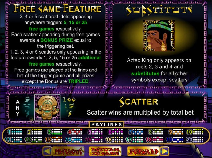 Aztec's Treasure by No Deposit Casino Guide