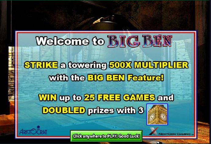 No Deposit Casino Guide - strike a towering 500x multiplier with the big ben feature. win up to 25 free games and doubled prizes with three big ben symbols
