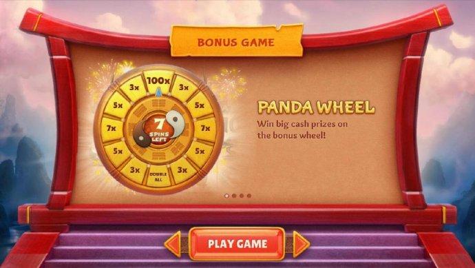 bonus game - panda wheel spin it for prize multipliers by No Deposit Casino Guide