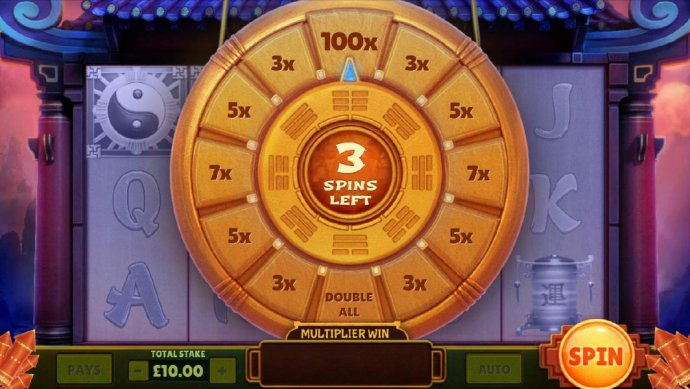 three spins to increase your line bet by multipliers by No Deposit Casino Guide