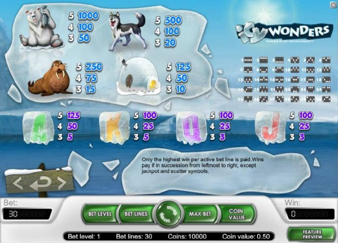 Icy Wonders by No Deposit Casino Guide