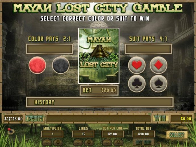 No Deposit Casino Guide - Gamble feature is available after each winning spin. Select color or suit to play.