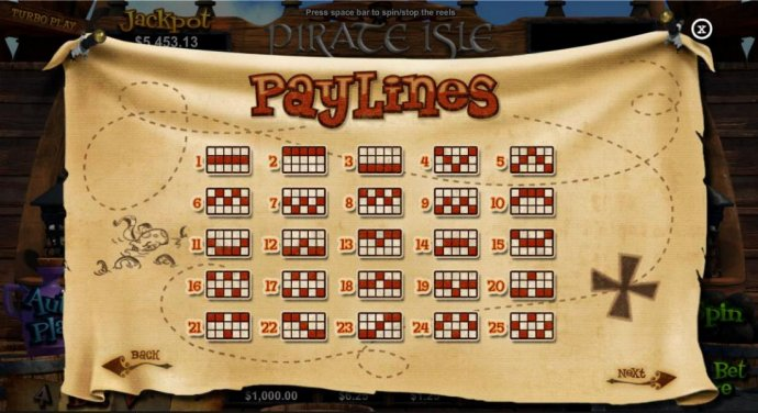 Payline Diagrams 1-25 - No Deposit Casino Guide