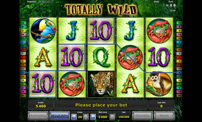 No Deposit Casino Guide image of Totally Wild