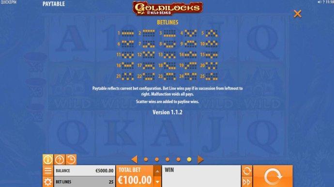 No Deposit Casino Guide image of Goldilocks and the Wild Bears