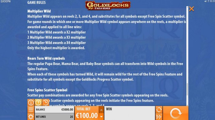 Goldilocks and the Wild Bears by No Deposit Casino Guide