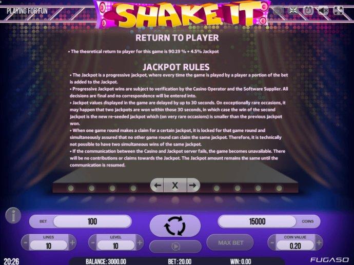 No Deposit Casino Guide image of Shake It!
