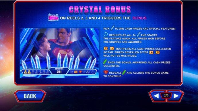 No Deposit Casino Guide - Bonus symbols on reels 2, 3 and 4 triggers the Crystal Bonus