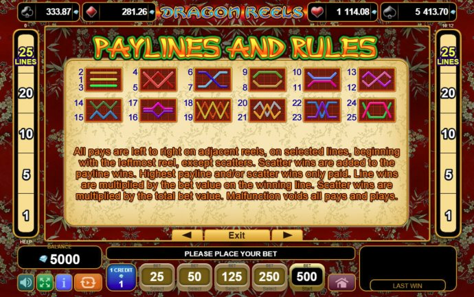 Dragon Reels screenshot
