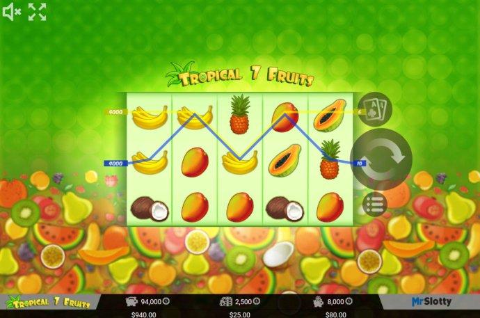 No Deposit Casino Guide image of Tropical 7 Fruits