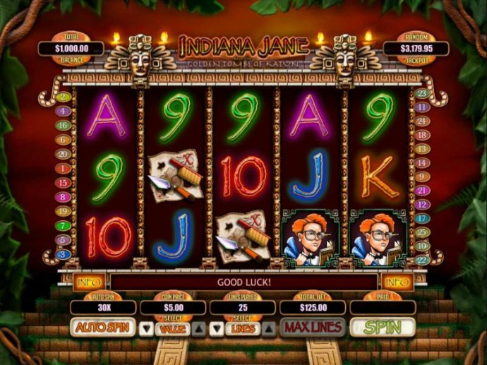 No Deposit Casino Guide image of Indiana Jane and the Golden Toms of Katun
