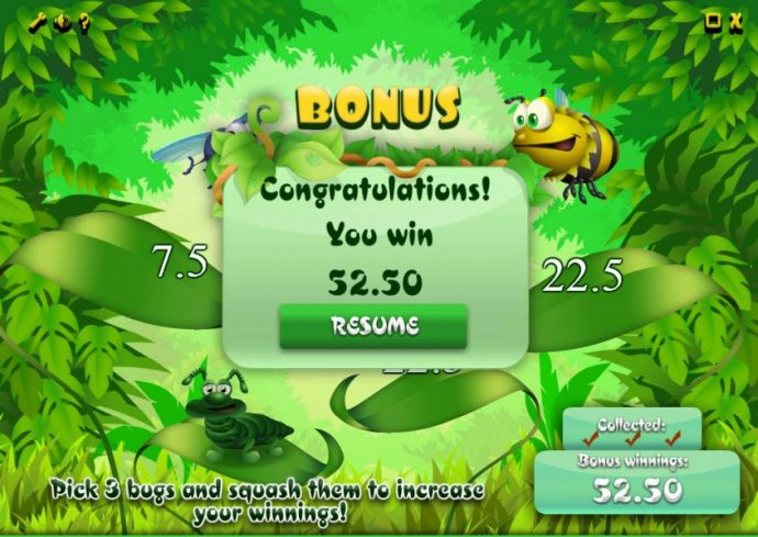 the bonus feature pays out a total of 52.50 - No Deposit Casino Guide