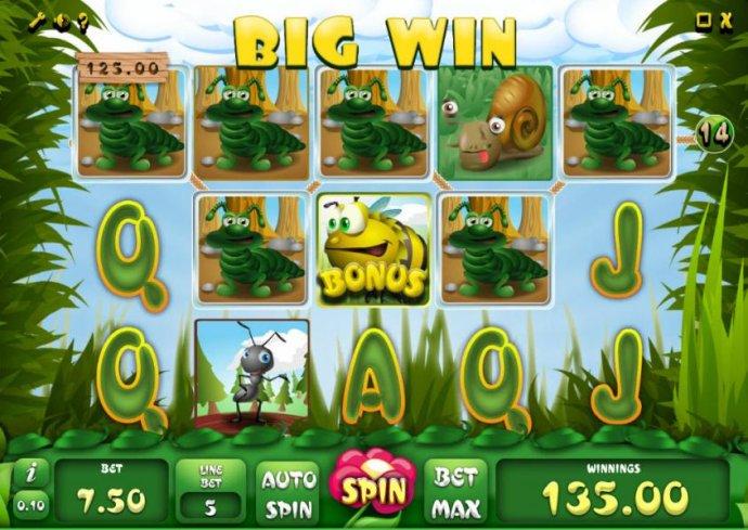 five of a kind triggered a $125 big win - No Deposit Casino Guide