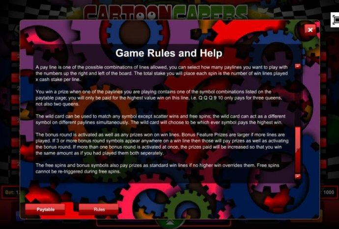 Cartoon Capers screenshot