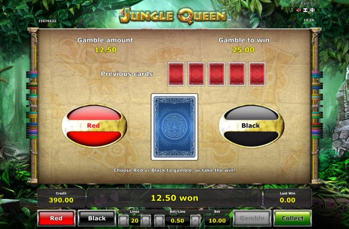 No Deposit Casino Guide - Red or Black Gamble feature