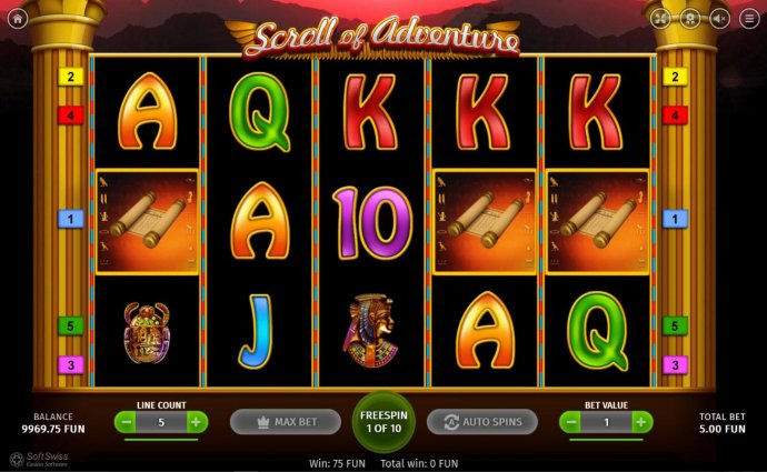 Three scatter symbols anywhere on the reels triggers the Free Spins feature. by No Deposit Casino Guide