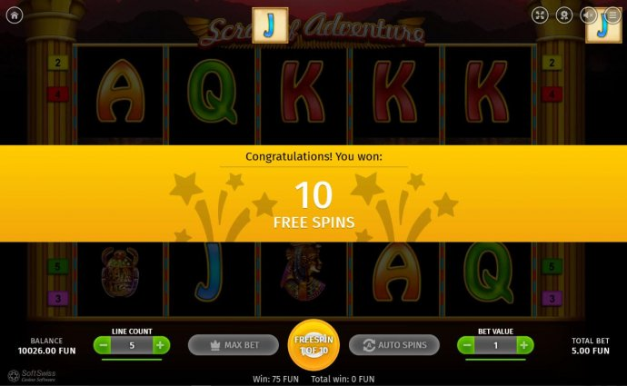 No Deposit Casino Guide - 10 Free Spins awarded player.