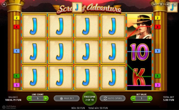 A special symbol is designated at the beginning of the free spins. During the free spins play, any corresponding symbols on the reels will fill the entire reel with like symbols as depicted in this image. by No Deposit Casino Guide
