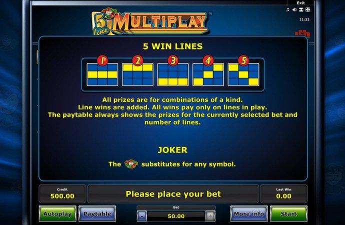 5 Line Mutiplay by No Deposit Casino Guide