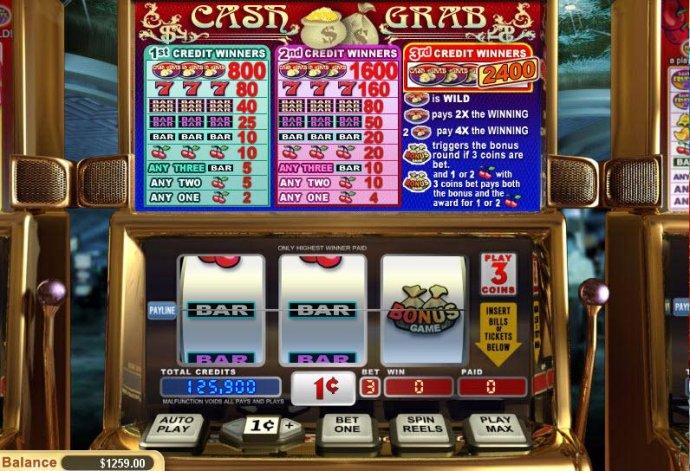 No Deposit Casino Guide image of Cash Grab