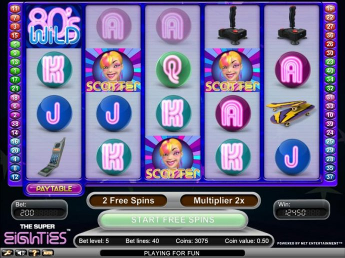 No Deposit Casino Guide image of Super Eighties