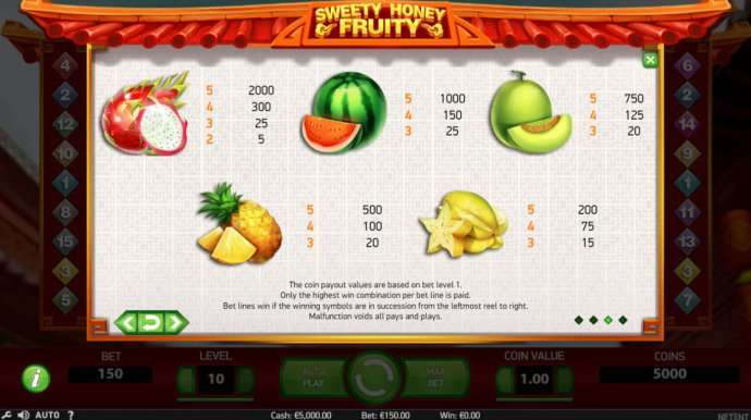 Sweety Honey Fruity screenshot