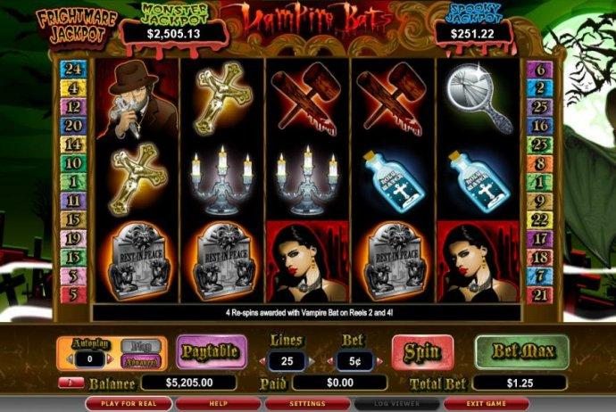 No Deposit Casino Guide image of Vampire Bats