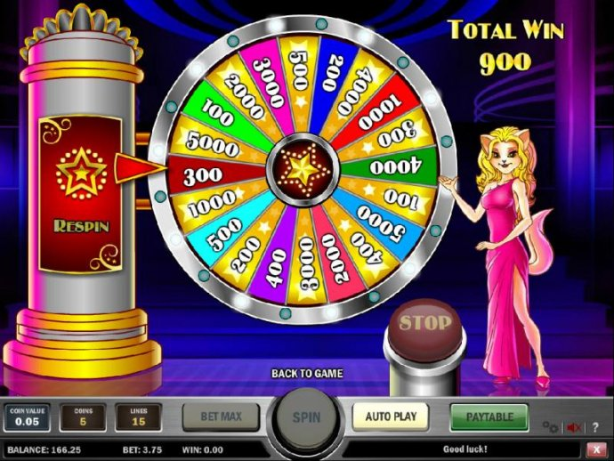 after spining the wheel three times a 900 coin big win was paid out by No Deposit Casino Guide