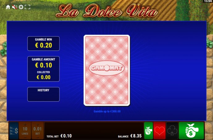 Card Gamble Feature Game Board by No Deposit Casino Guide