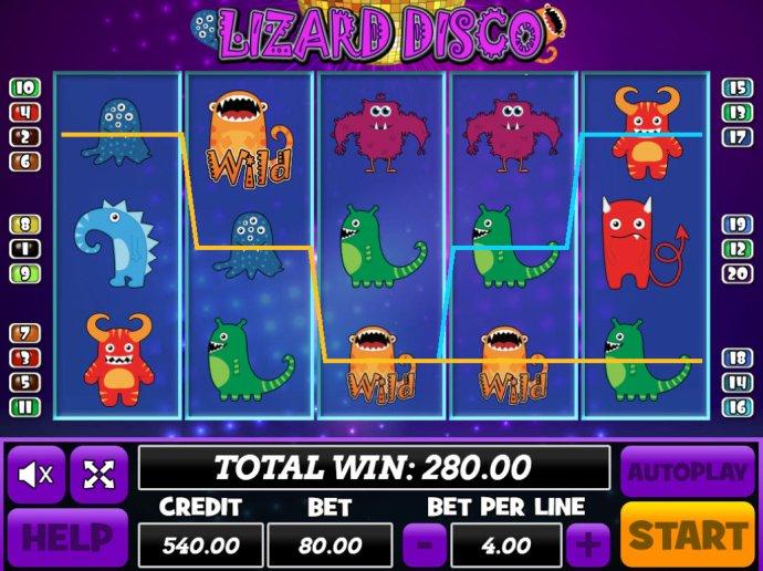 Lizard Disco by No Deposit Casino Guide
