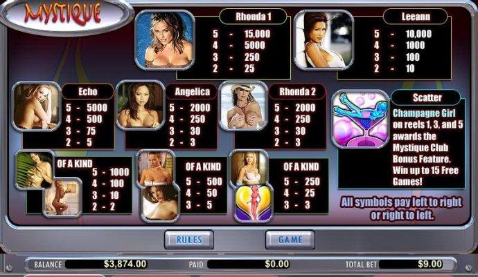 No Deposit Casino Guide image of Mystique Club
