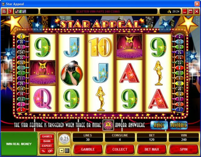 No Deposit Casino Guide image of Star Appeal