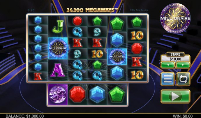 No Deposit Casino Guide image of Who Wants To Be A millionaire Megaways