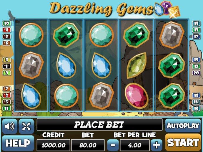 No Deposit Casino Guide image of Dazzling Gems