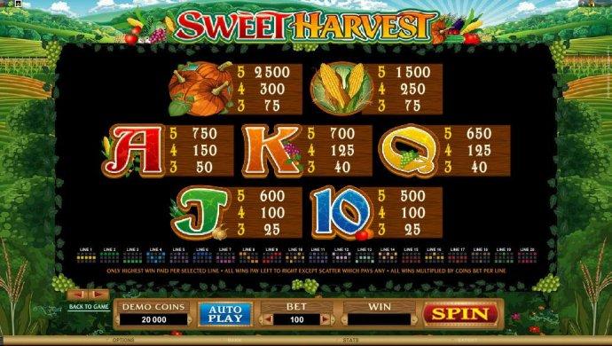 Sweet Harvest screenshot