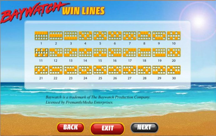 payline diagrams by No Deposit Casino Guide