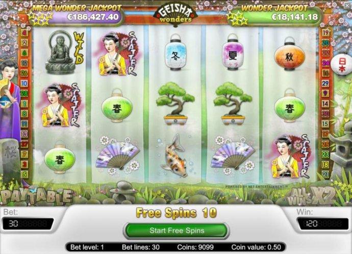 No Deposit Casino Guide - three or scatter symbols triggers free spins bonus feature