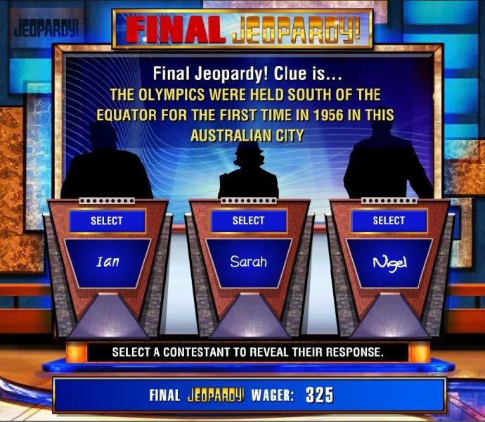 Jeopardy screenshot