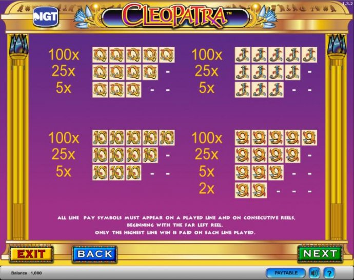 No Deposit Casino Guide image of Cleopatra