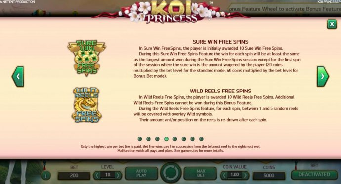 No Deposit Casino Guide image of Koi Princess