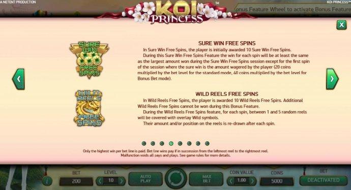 No Deposit Casino Guide image of Koi Princess