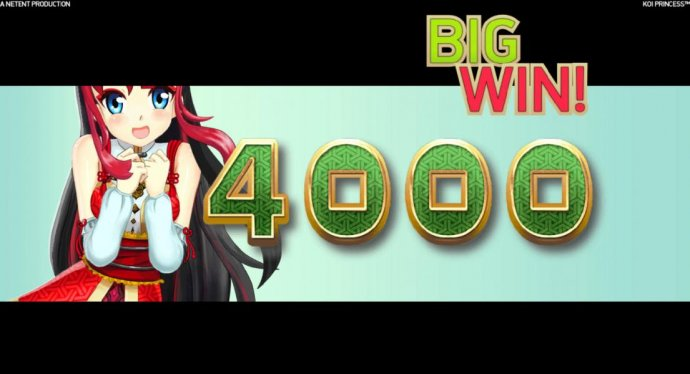 The Coin Win feature awards 4000 coins for a big win! - No Deposit Casino Guide
