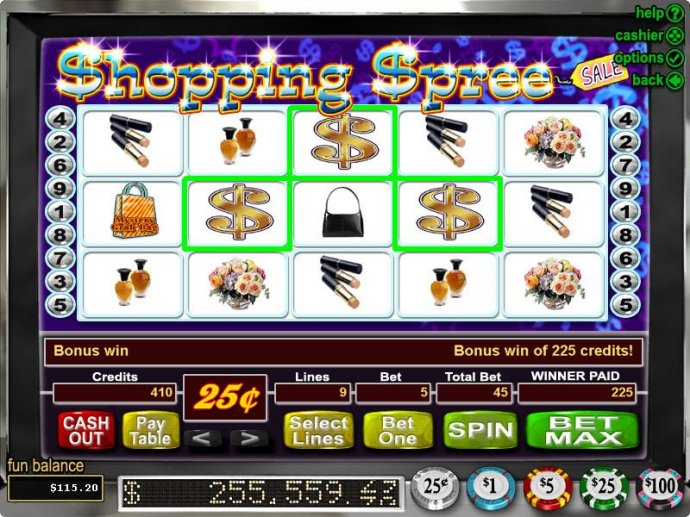 No Deposit Casino Guide image of Shopping Spree