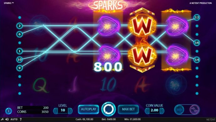 Multiple winning paylines triggers an 800 coin big win! - No Deposit Casino Guide