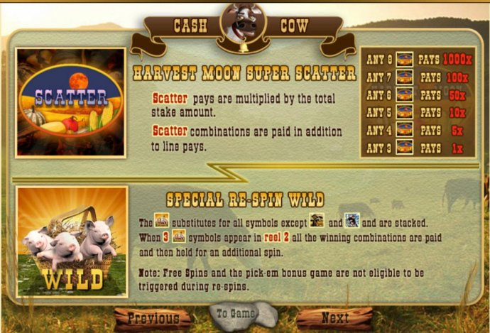 No Deposit Casino Guide image of Cash Cow