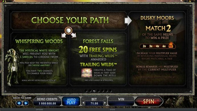 choose your path - No Deposit Casino Guide