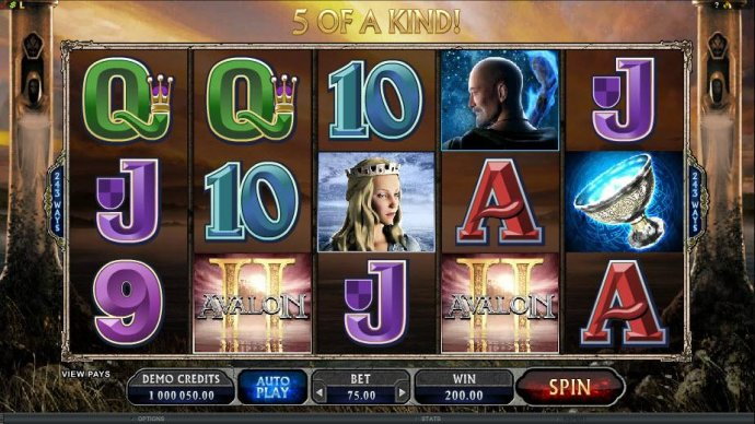 five of a kind triggers a 200 coin payout - No Deposit Casino Guide