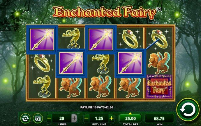 A Magic Wand four of a kind leads to a modest payout. - No Deposit Casino Guide