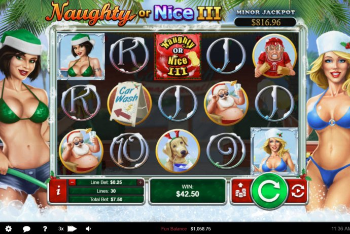 No Deposit Casino Guide image of Naughty or Nice III