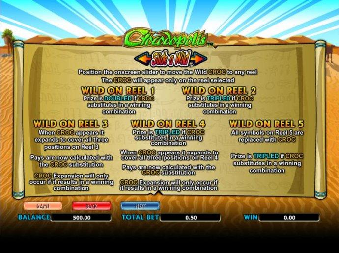 No Deposit Casino Guide image of Crocodopolis